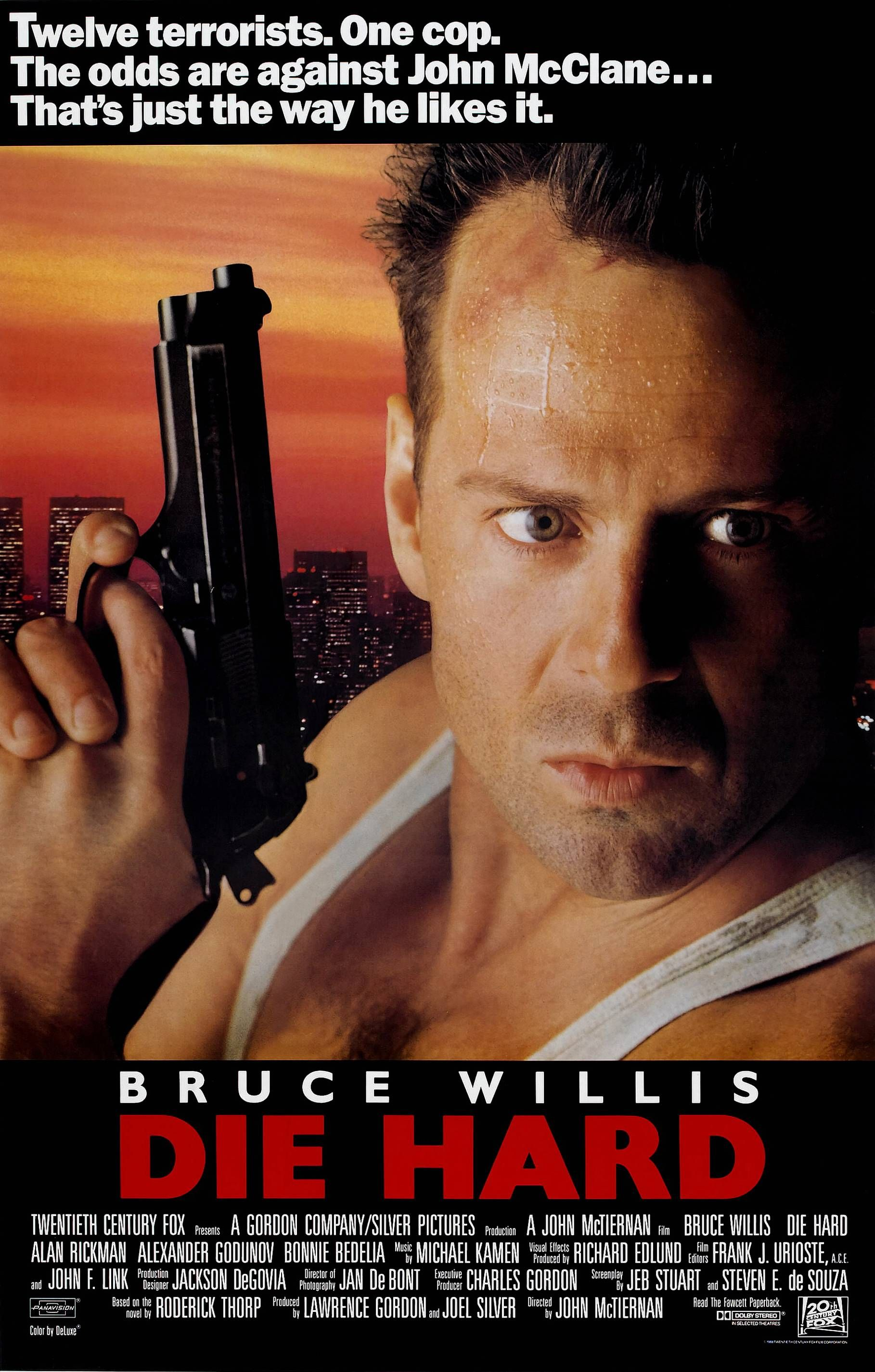 NEW DIE HARD V2 BRUCE WILLIS ORIGINAL 80s 1988 MOVIE CINEMA PRINT PREMIUM POSTER