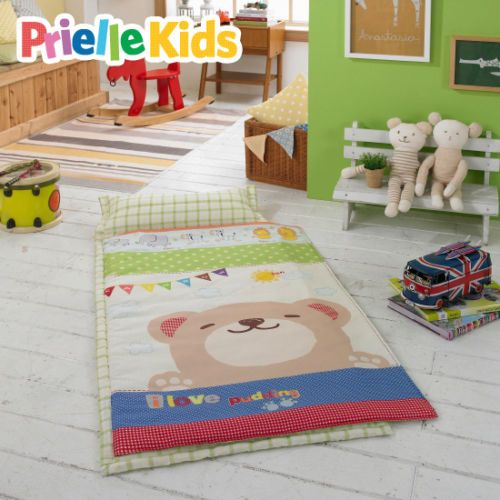 Kids Nap Mat Sleeping Bag Preschool All In One Pillow Included Pudding