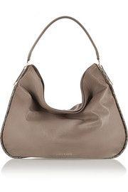 Jimmy ChooZoe large elaphe-trimmed leather shoulder bag