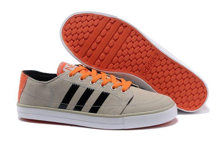 adidas neo grey orange