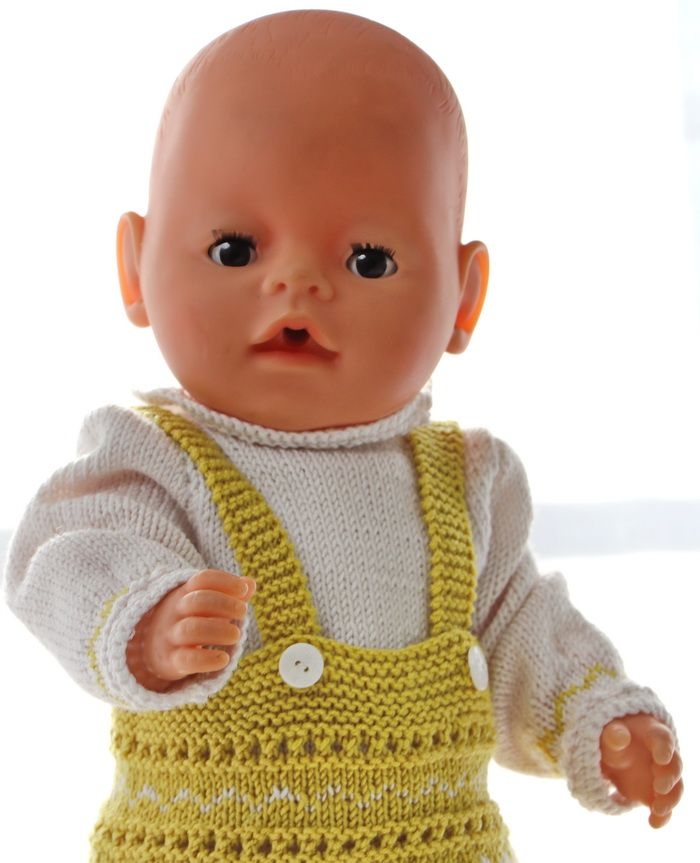 Puppenkleid Stricken Anleitung Stricken Pinterest Knitting