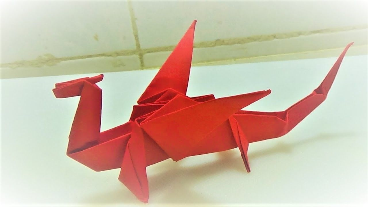 Art of paper how to make a really easy origami dragon paper art of paper how to make a really easy origami dragon paper craft jeuxipadfo Image collections