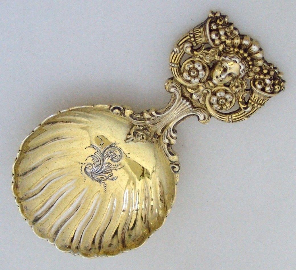 Tiffany Bon Bon Spoon Renaissance Revival Spoon Columbian Expo Mark 1893 Sterling Silver/