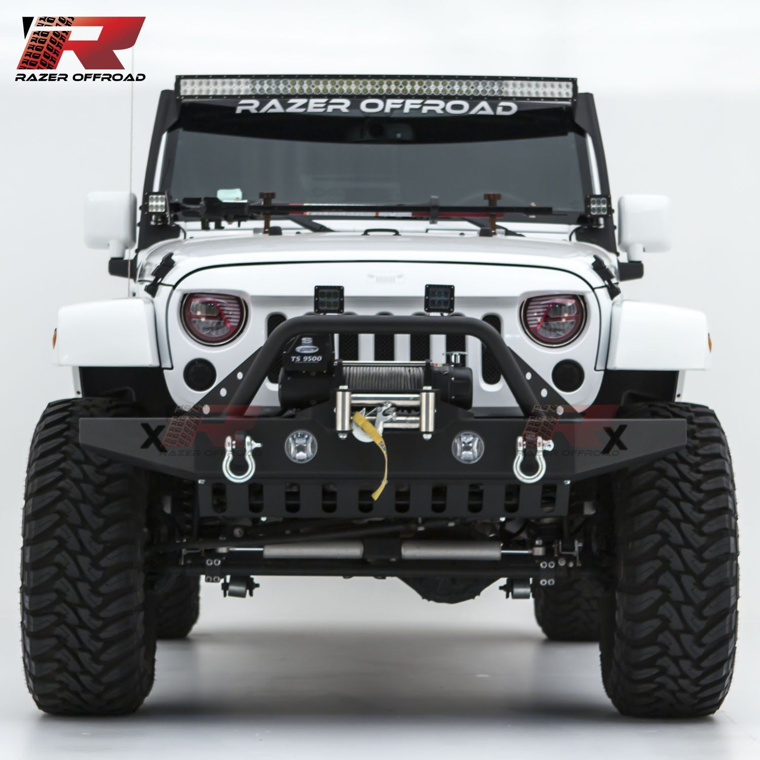 Amazon Com Razer Auto Black Textured Rock Crawler Front Bumper