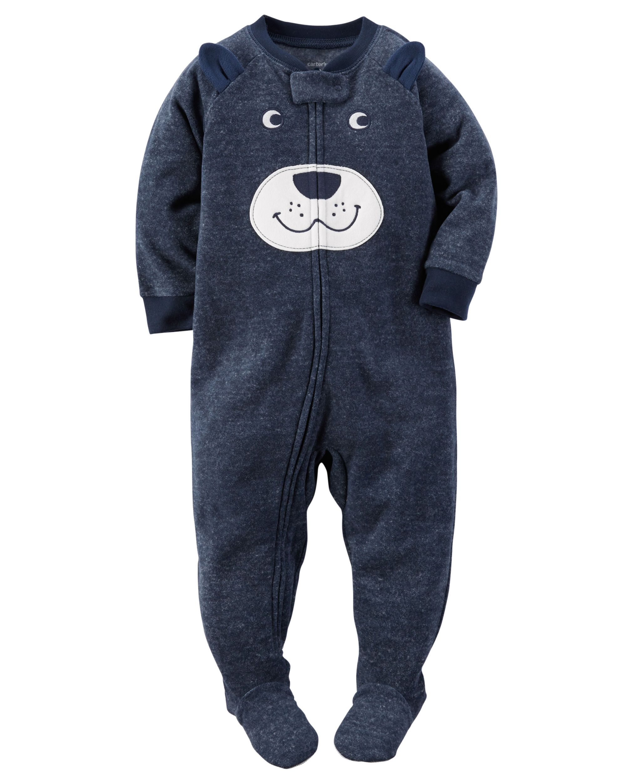 7d492791af608 3T IN FOOTIE PJ'S Toddler Boy 1-Piece Fleece PJs from Carters.com. Shop  clothing & accessories…
