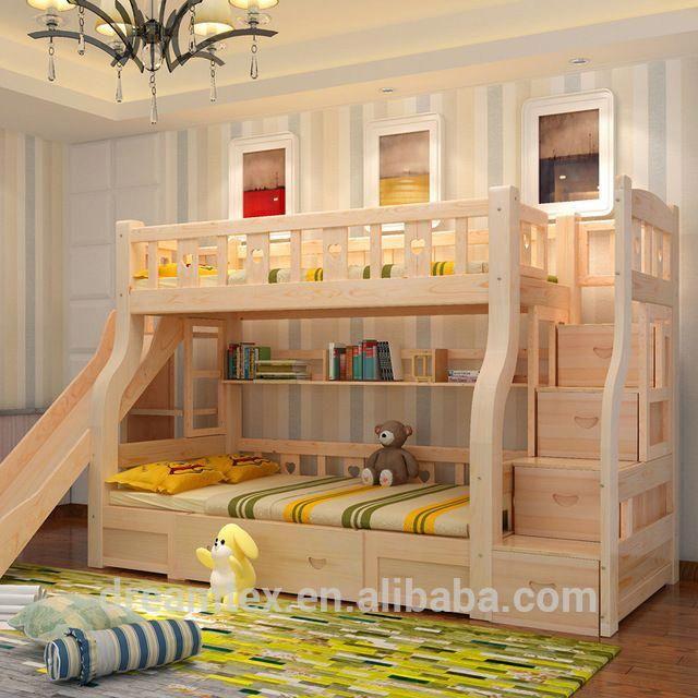 Source Hot Sale New Design Solid Wood Bunk Bed For Kid Bed Children