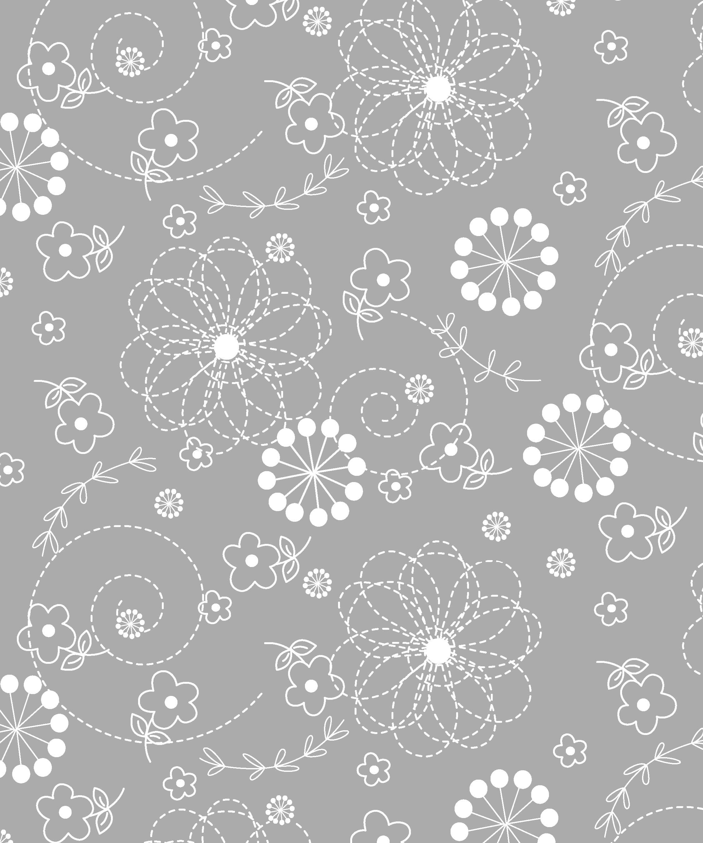 Maywood Studio Lil Sprout Too Flannel Doodles Gray