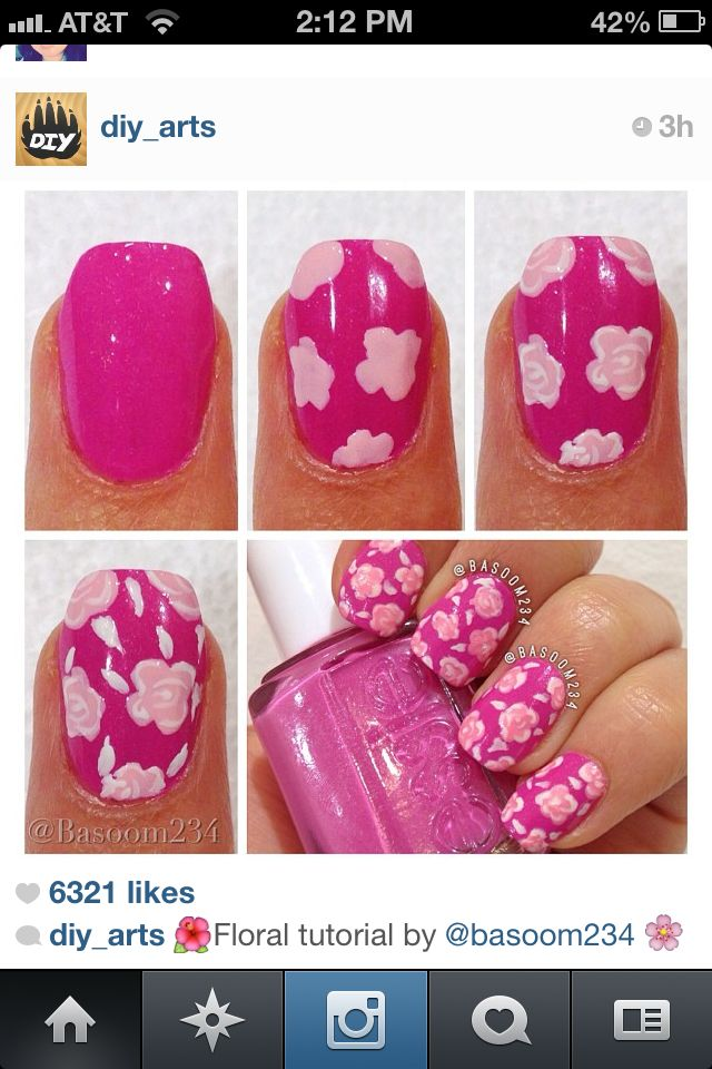 Do your own nail design flowers step-by-step | uas ...