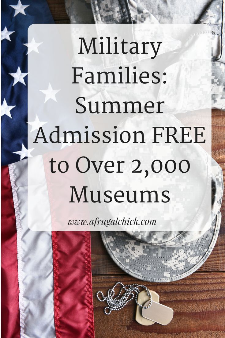 Participating museums across the country offer free family admission for active duty military families from Memorial Day through Labor Day. #travel #familytravel #traveling #vacation #traveltips #militaryfamilies #militarydiscounts
