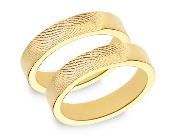 Trauringe hochzeit gold  Trauringe mit Fingerabdruck - Bildergalerie | Fingerabdrücke ...