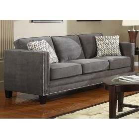 Sofa With 2 Pillows Grey Linda S Furniture Emerald Home Furnishings Contemporary Sofa Sofa Colors