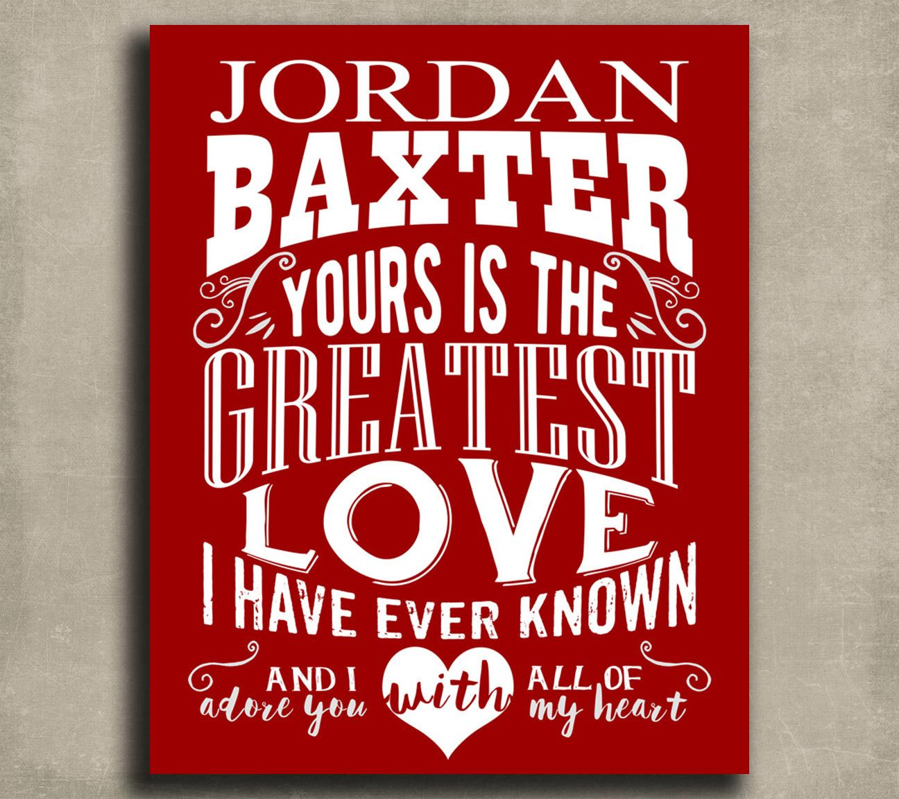Greatest Love Personalized Tin Sign Gift For Boyfriend Valentine\'s ...