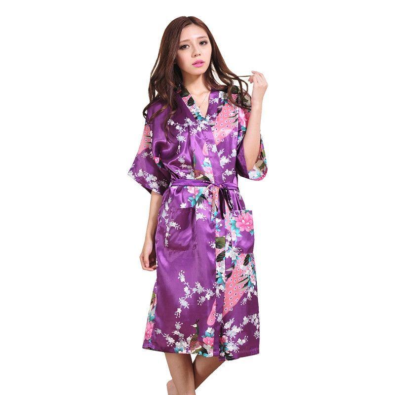RB015 Satin Robes for Brides Wedding Robe Sleepwear Silk Pijama ...