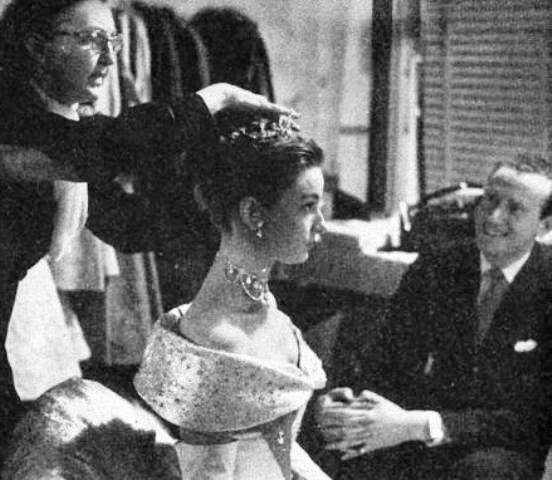 Audrey nos bastidores de Roman Holiday, 1952