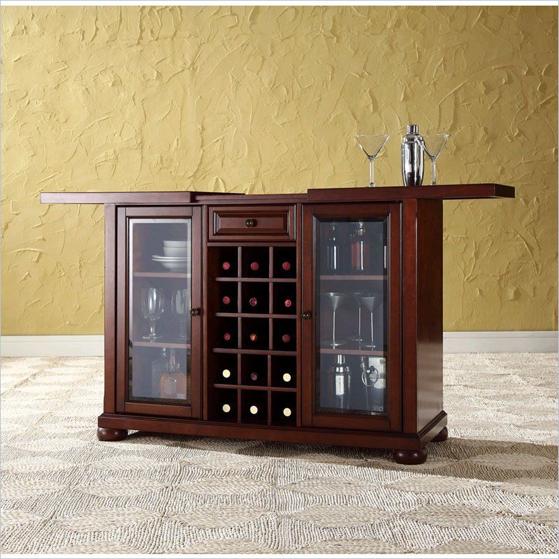 Alexandria Sliding Top Bar Cabinet In Vintage Mahogany By Crosley Furniture At Prices From Our Home Bars Department Or Compare Sku