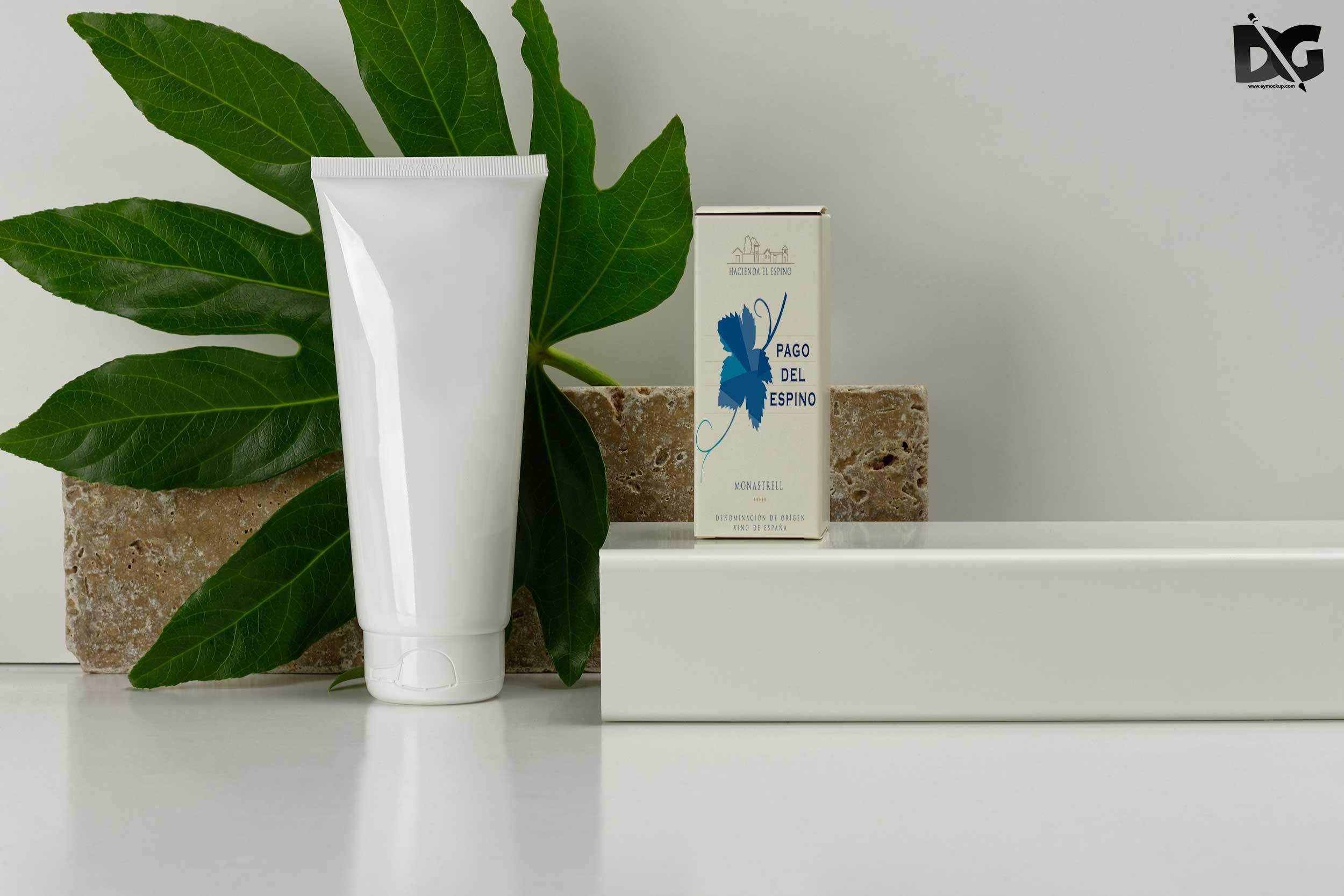 Download Free Premium Hand Cream Perfume Box Psd Mockup Mockup Free Psd Free Mockup Perfume Box