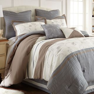 This Green Bedroom Feels Like A Walk in a Garden | Cotton ... |Deluca Comforter Set