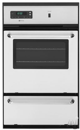 Maytag Cwg3100aa 24 Single Gas Wall Oven With 2 7 Cu Ft Upper