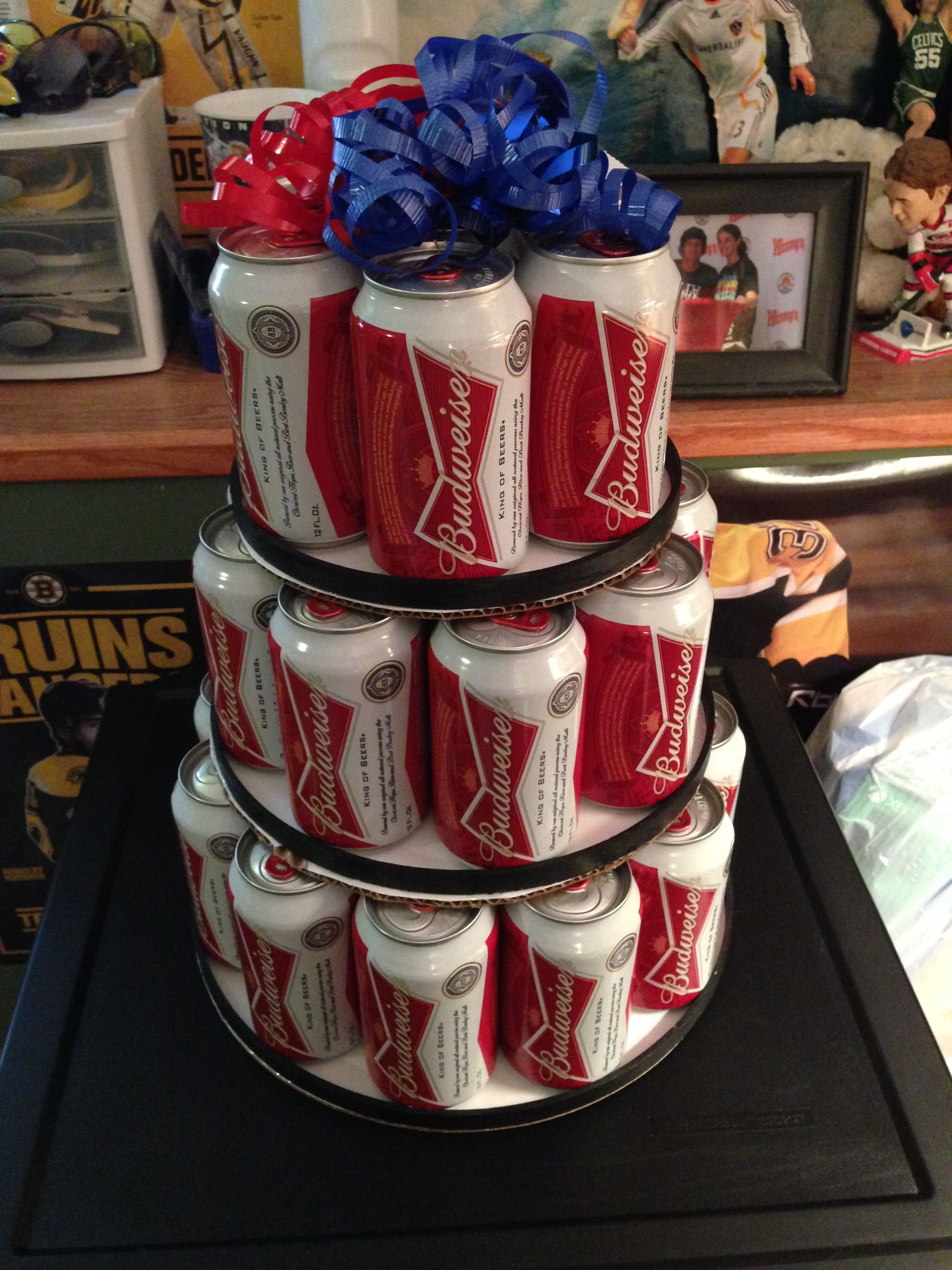 So getting this for him birthday beer cake birthday cake