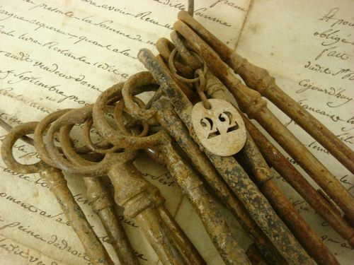 Collection of antique French keys
