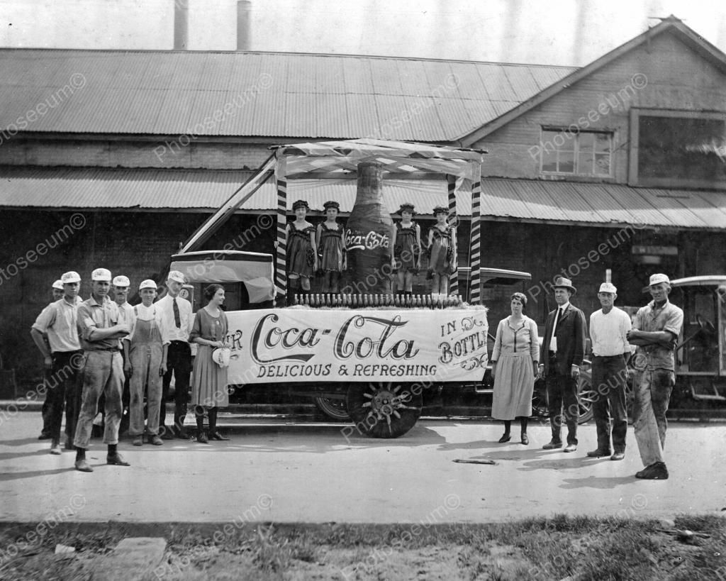 Coca Cola Float 1922 Vintage 8x10 Reprint Of Old Photo