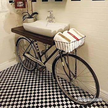 Bicycle Sink Unique Bathroom Sinks Bathroom Storage Solutions