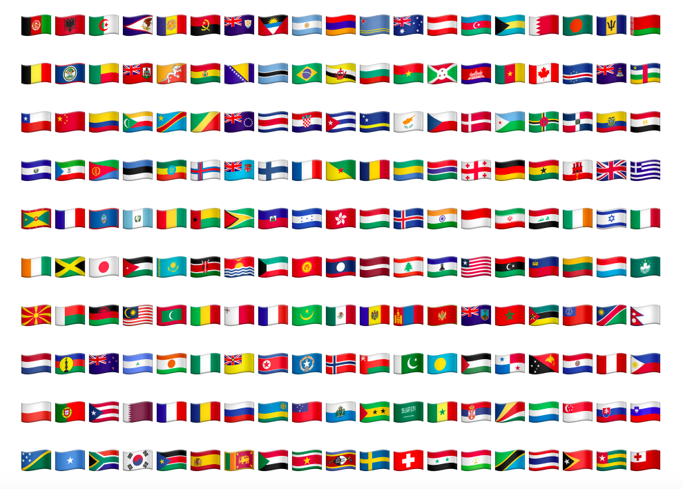 If you think the flag for your country isn't in the 2015 Apple ...