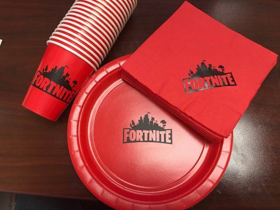 Fortnite Party Plates Cups Napkins Custom Colors Party