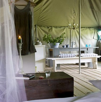 Camp in a 'Desert Tent' in France