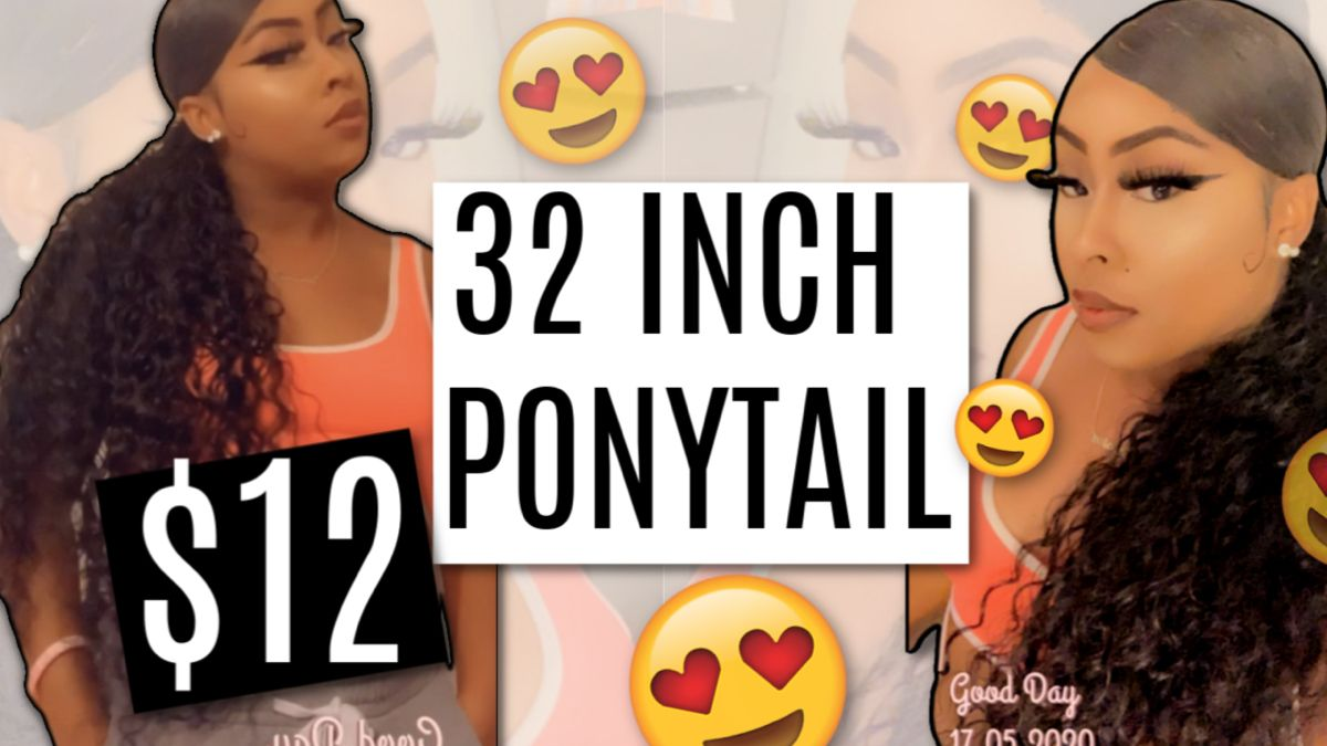 Long Curly Ponytail Style Using Beauty Supply Store Hair No Heat Youtube Ponytail Styles Curly Ponytail Beauty Supply Store