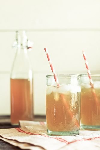 black tea lemonade...one of my favorite drinks for summer (replace with sweet tea vodka for some extra awesome)