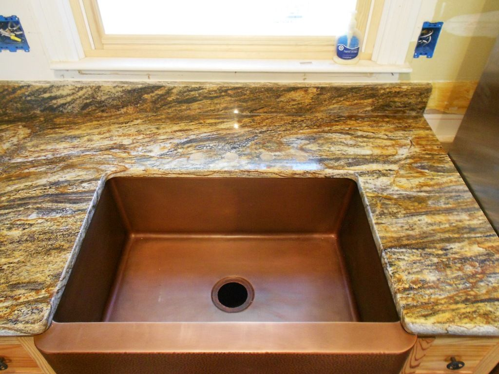 HURRICANE Granite 5 30 12 Granite Countertops Installed In Lancaster SC  Farm Sink Half Bullnose Edge