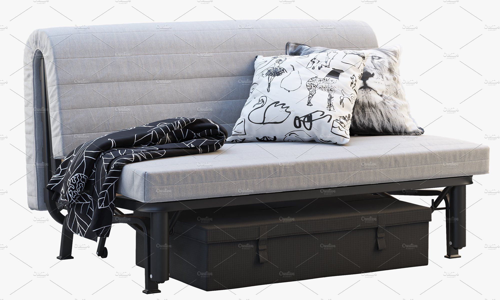 Sofa Bed Frame With Mattress 3d Sofa Bed Frame Bed Frame With