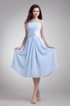 Terse Straps Sleeveless Stretch satin Bridesmaids