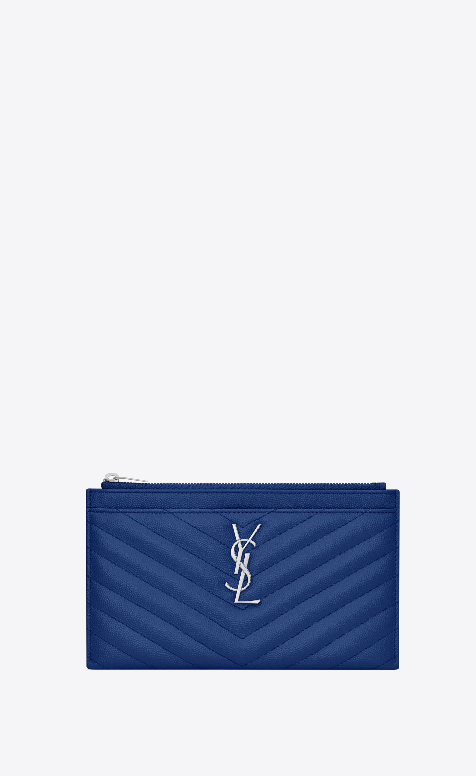 323baddb79 Saint Laurent Monogram Bill Pouch In Grain De Poudre Embossed Leather | YSL .com