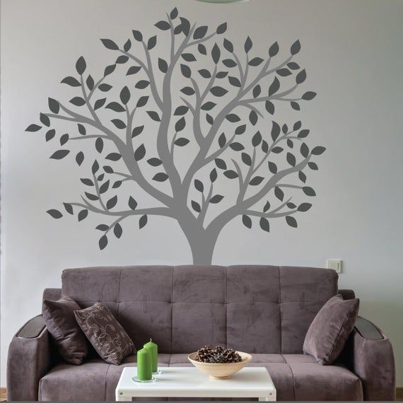 Large Tree Wall Sticker Living Room Wall Decal Etsy In 2020 Wall Stickers Living Room Wall Stickers Uk Music Wall Stickers