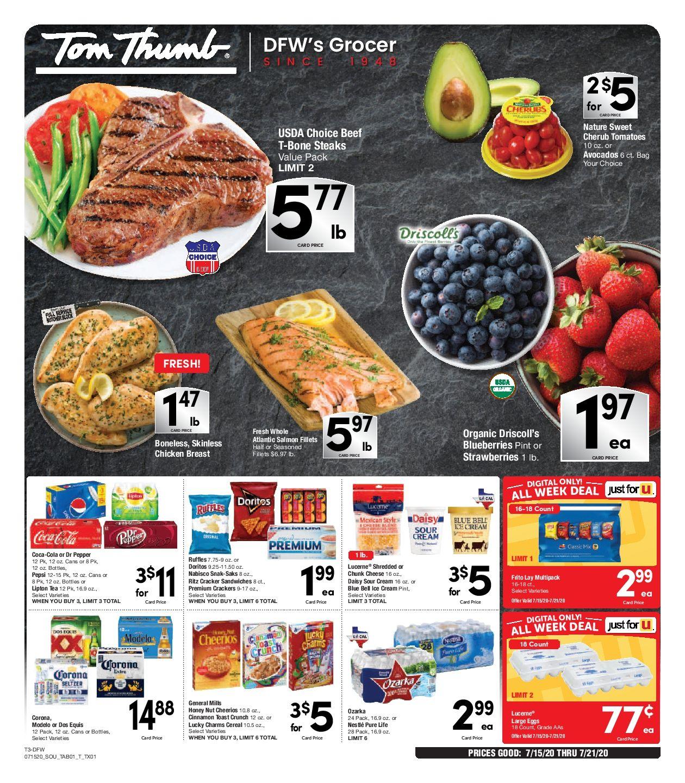 Tom Thumb Weekly Ad 7/15/20 7/21/20 Sneak Peek Preview