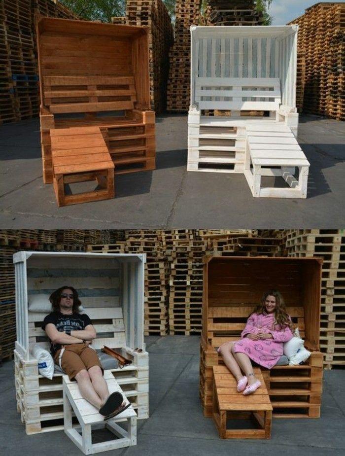 ▷ 1001+ ideas para hacer muebles con palets fáciles | Descansando ...