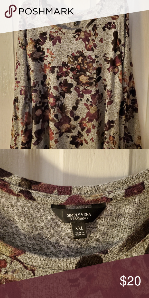 Plus Simply Vera Wang Sweater Beautiful Plus Vera Wang Sweater In Great Condition With No Snags Simply Vera V