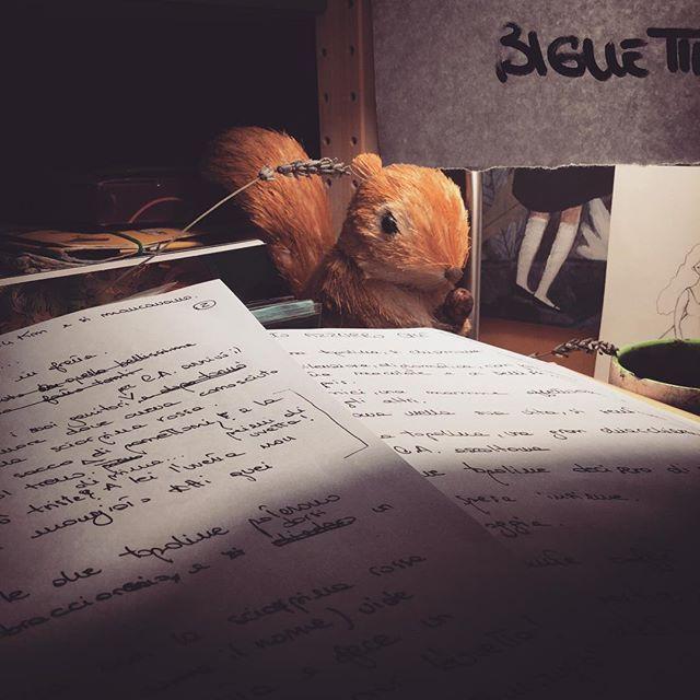 Presenze...  #nightwork #duringthework #squirrel #sguardi #presenze #itopidicice