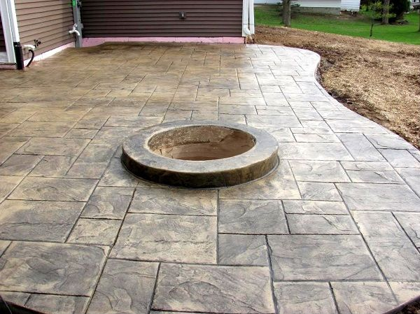 Stamped Concrete Ideas Stamped Concrete Patio Designs Stamped