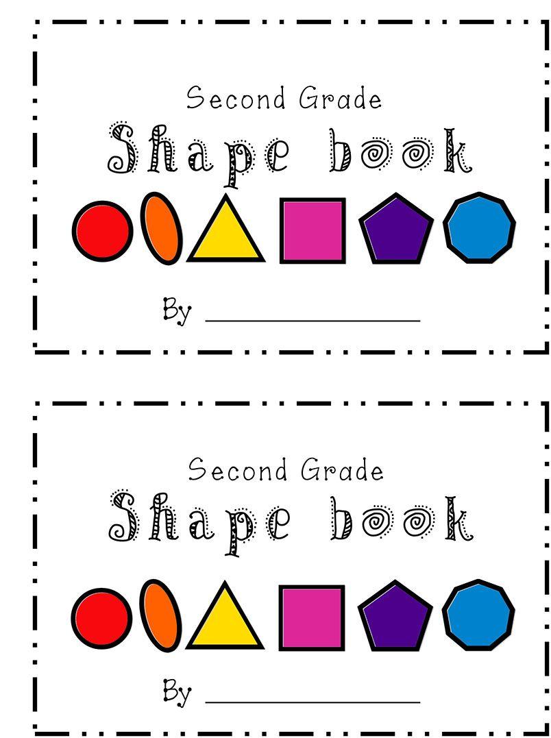Second Grade Shape Book Elementary Math Math Lessons Math Work