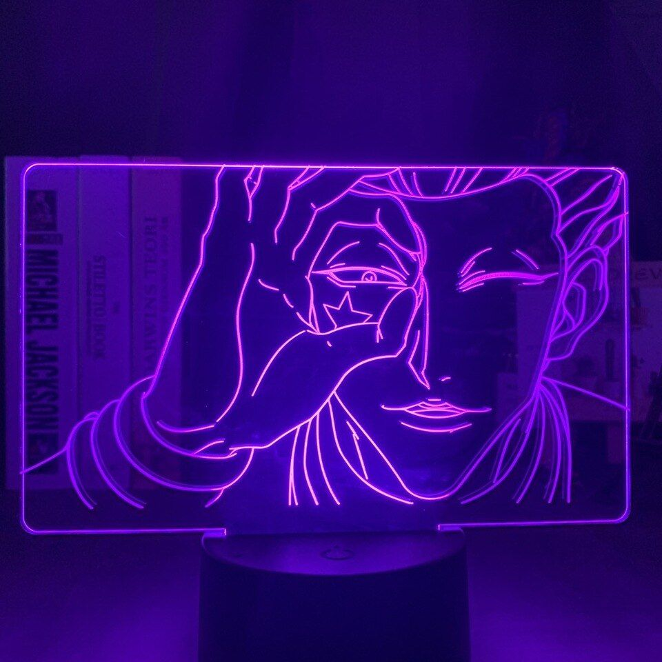 Https Ae01 Alicdn Com Kf H9c9cdb6404124e91a706246b920d1d2ez 3d Lamp Hisoka Face Led Color Changing Atmosph In 2020 Anime Decor Neon Sign Bedroom Bedroom Decor Lights