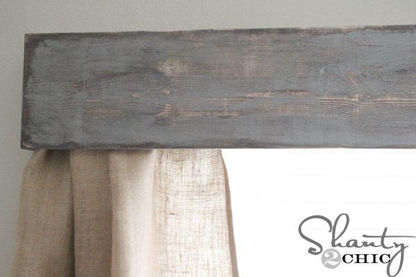 Diy Wooden Window Cornice 308 Living Room Window