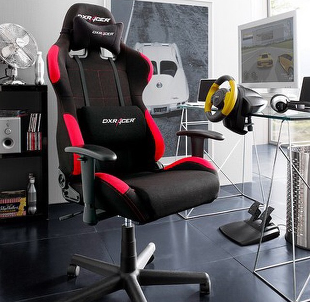 Dxracer Fd01nr Office Chair Gaming Chairs Automotive Seat Computer Black And Red