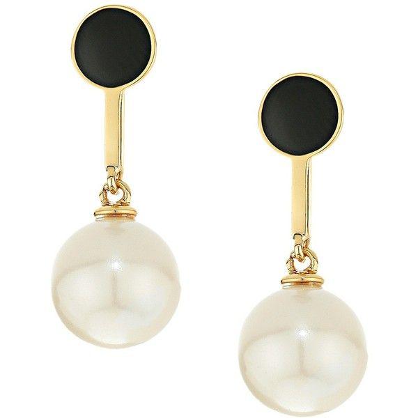 Kate Spade New York Shine On Pearl Drop Earrings Black Earring 48