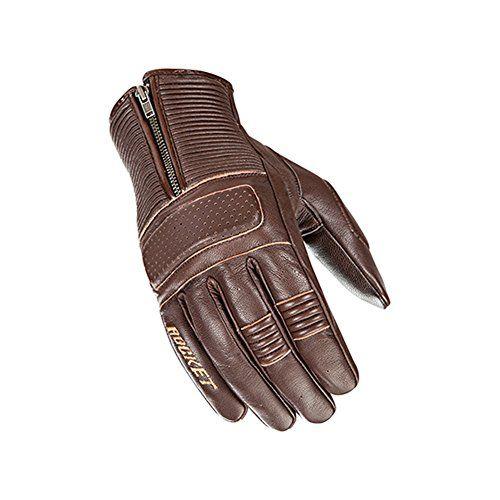 Joe Rocket Full Finger Brown Leather Cafe Racer Gloves Leather Motorcycle Gloves Brown Leather Gloves Mens Brown Leather Gloves