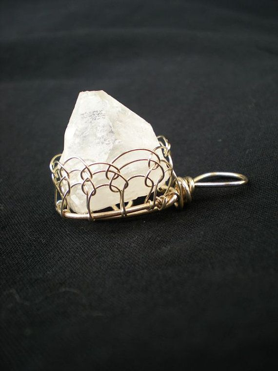 VIKING KNIT Bezel Wire Wrapped APOPHYLLITE by TheWellAndSpindle, $30.00