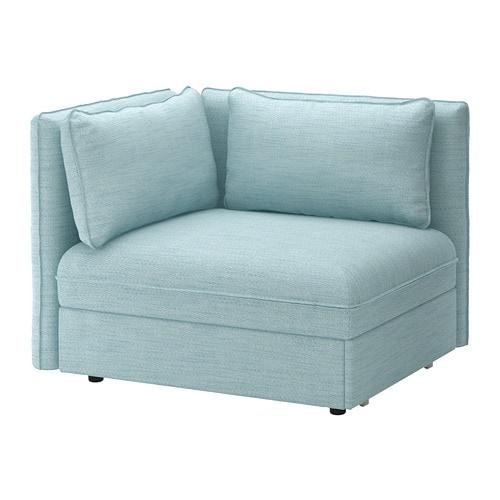 Vallentuna Sleeper Module With Backrests Hillared Light Blue Ikea Vallentuna Ikea Chair Bed