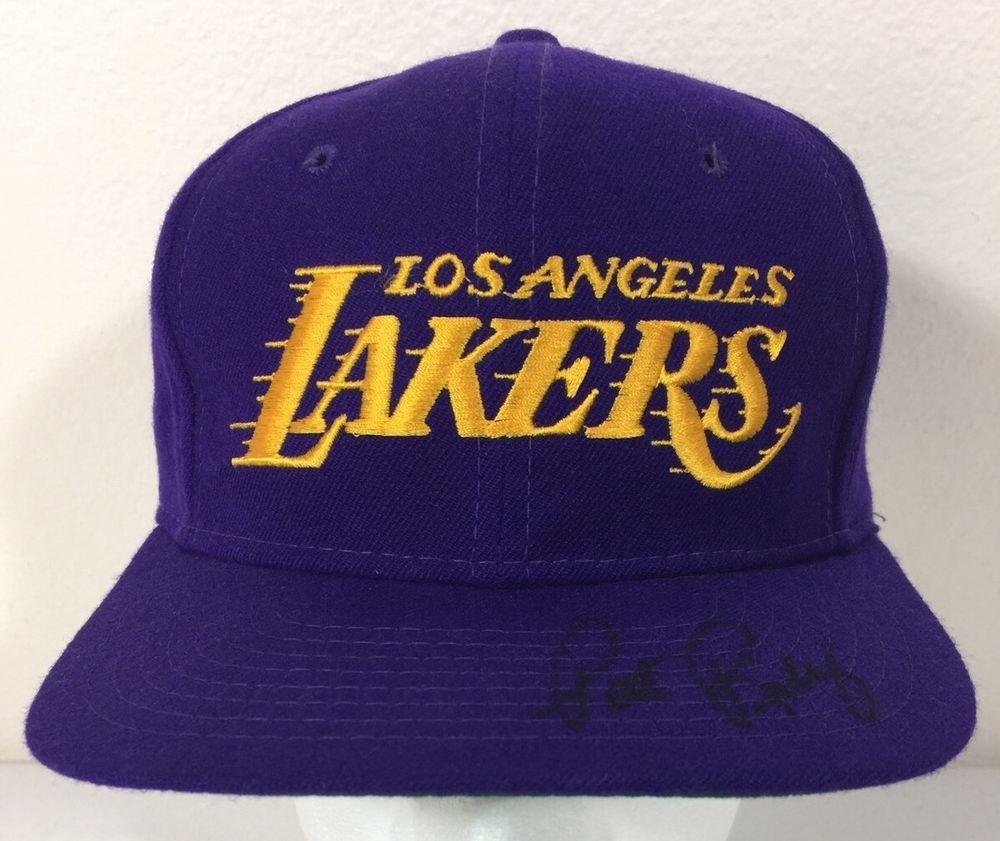 Vintage Los Angeles Lakers Pat Riley Signed La Purple Snapback Baseball Hat Cap Pat Riley Los Angeles Lakers Purple Hats